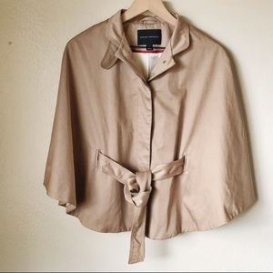 Banana republic belted cape jacket trench large